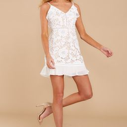 On To Better Things White Lace Dress   Red Dress