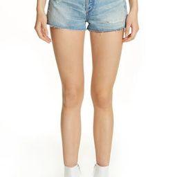 Women's Jean Atelier Janis High Rise Mini Shorts, Size 24 - Blue | Nordstrom