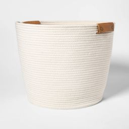 Decorative Coiled Rope Floor Basket White - Threshold , Beige | Target