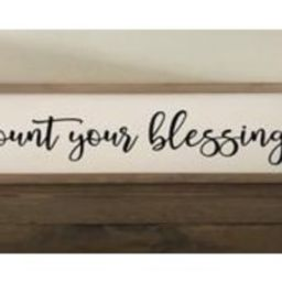 Count Your Blessings Sign, Thanksgiving Sign, Christian Sign, Grateful Sign   Etsy (US)