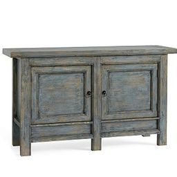 Molucca Media Console, Distressed Blue   Pottery Barn (US)