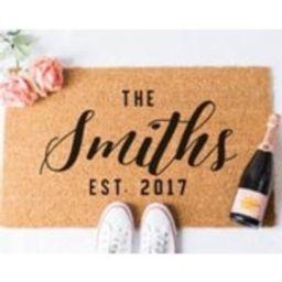 Custom Last Name Doormat  Door Mat  Custom Doormat  Personalized Doormat  Personalised Doormat  Gift for Married Couple  Custom Mat   Etsy (US)