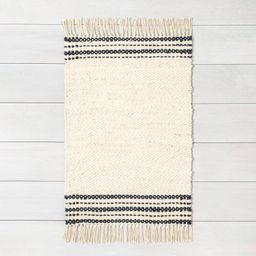 2'x3' Rug Jute Charcoal Stripe - Hearth & Hand with Magnolia, Adult Unisex, Size: 2'x3', Black Beige | Target