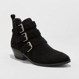 Women's Kelsey Triple Buckle Cut Out Western Boots - Universal Thread™ | Target