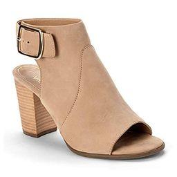 Vionic Women's Perk Blakely Open Toe Slingback Heel – Ladies Peep Toe Booties Concealed Orthotic Sup   Amazon (US)