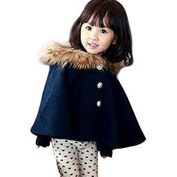 D-Sun Kids Girls Wool Blend Hoodie Capes Poncho Children Fall Winter Outwear   Amazon (US)