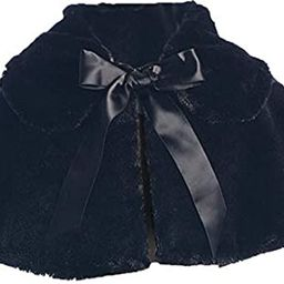 Girl's Soft Faux Fur Cape in Black, White or Ivory (Infant 6-24 Month)(Girls 2-12)   Amazon (US)