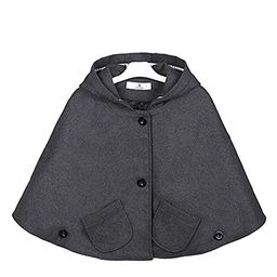 Everweekend Kids Girls Wool Blend Hoodie Capes Poncho Children Fall Winter Outwear   Amazon (US)