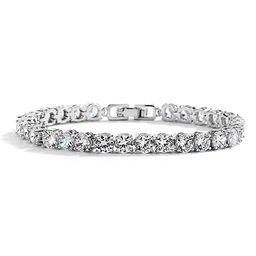 "Mariell Glamorous Platinum Silver 6 1/2"" Petite Size CZ Bridal Tennis Bracelet - Ideal for Smalle...   Amazon (US)"