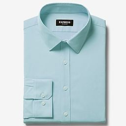 classic solid wrinkle-resistant performance dress shirt | Express