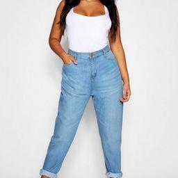 Plus Fabienne High Rise Mom Jeans | Boohoo.com (US & CA)