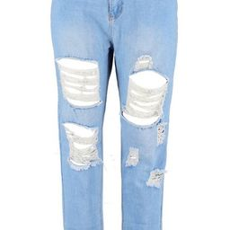 Plus All Over Ripped Jean | Boohoo.com (US & CA)