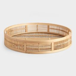 Round Natural Bamboo Tray | World Market