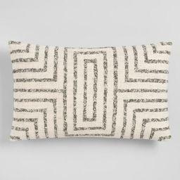 Oversized Gray Maze Square Lumbar Pillow | World Market
