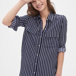 Utility Pocket Print Boyfriend Shirt | Gap (US)