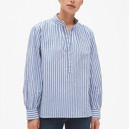 Stripe Shirred Popover Shirt | Gap (US)