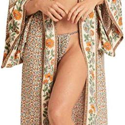 R.Vivimos Women's Vintage Floral Print Beach Boho Cardigan Kimono Maxi Swimwear Cover up Dress Wr...   Amazon (US)