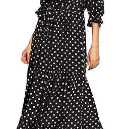R.Vivimos Women Summer Off Shoulder Polka Dot Long Dresses | Amazon (US)