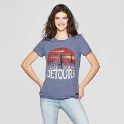 Women's Short Sleeve Detours T-Shirt - Zoe + Liv (Juniors') - Navy   Target