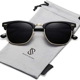 SOJOS Semi Rimless Polarized Sunglasses Half Horn Rimmed Glasses SJ5018 | Amazon (US)