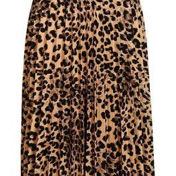 Leopard Print Pleated Midi Skirt | Boohoo.com (US & CA)