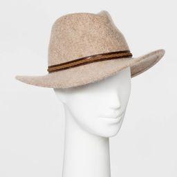 Women's Polyester Fedora Hat - Universal Thread™ Cream   Target