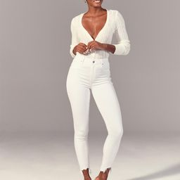 Curve Love High Rise Super Skinny Ankle Jeans | Abercrombie & Fitch US & UK