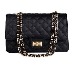 'Sofia' Quilted Caviar Faux Leather Chain Strap Bag (3 Colors)   Goodnight Macaroon