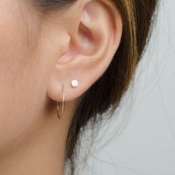 Thin Hoop Earrings - Dainty Hoop Earrings - Bridesmaid Gift - Classic Hoops - Simple Hoop Earring...   Etsy (US)