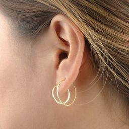 Medium Hoop Earrings -Thin Hoop Earrings -Dainty Hoops -Gold Hoop Earrings -Minimalist Earrings -...   Etsy (US)