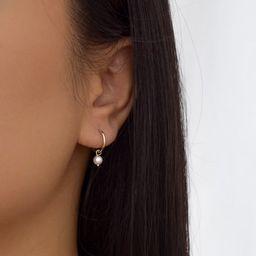 Pearl Huggie Earrings - Gold Huggies Earrings, Dainty Pearl Earrings, Pearl Hoops, Small Hoop Ear...   Etsy (US)