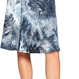 Popana Womens Casual Knee Length A-Line Stretch Midi Skirt Plus Size Made in USA   Amazon (US)