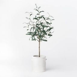 """28.5"""" Artificial Olive Tree in Pot Green/White - Threshold™ designed with Studio McGee 