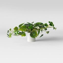 """28"""" x 13"""" Artificial Pothos Plant in Pot Green/White - Threshold™ 