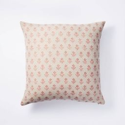 Floral Block Print Throw Pillow - Threshold™ designed with Studio McGee | Target