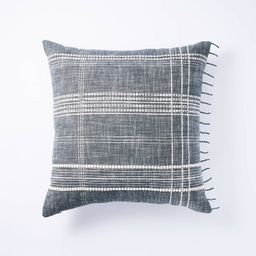 Woven Plaid Pillow Gray - Threshold™ designed with Studio McGee | Target