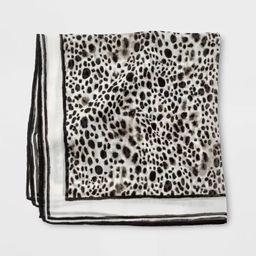 Women's Neckerchief Leopard Print Scarf - A New Day™ Black   Target