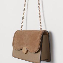 Suede-detail Shoulder Bag | H&M (US)