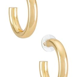 BaubleBar Dalilah Medium Tube Hoop Earrings in Gold from Revolve.com | Revolve Clothing (Global)