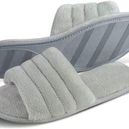 DL Women's Memory Foam Open Toe Slide Slippers with Cozy Terry Lining, Slip-on House Shoes Spa Mu...   Amazon (US)
