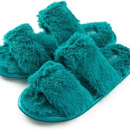 Roxoni Fuzzy House Slippers for Women – Comfortable Furry Spa – Cozy Slip On Open Toe - Soft ...   Amazon (US)