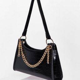 Chain-ge for the Better Croc Shoulder Bag   NastyGal (US & CA)
