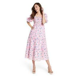 Women's Sabina Puff Sleeve Dress - LoveShackFancy for Target (Regular & Plus) Light Pink   Target