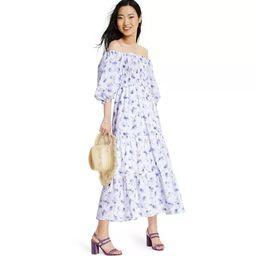 Women's Gemma Puff Sleeve Dress - LoveShackFancy for Target (Regular & Plus) White/Blue   Target