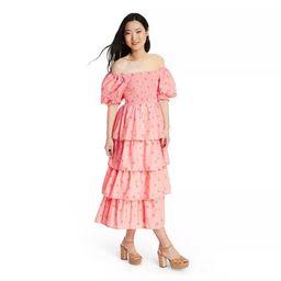 Women's Simone Smocked Dress - LoveShackFancy for Target (Regular & Plus) Pink Melon   Target