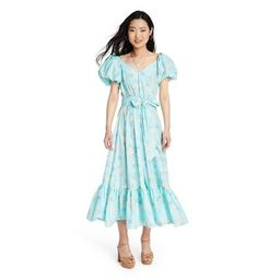 Women's Estelle Puff Sleeve Dress - LoveShackFancy for Target (Regular & Plus) Blue   Target