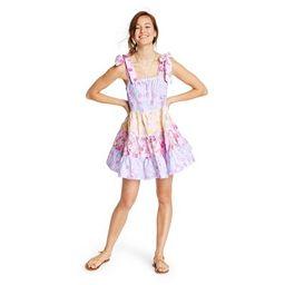 Women's Jeanne Tie-Strap Tiered Dress - LoveShackFancy for Target (Regular & Plus) Pink/Lavendar | Target