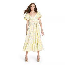 Women's Inés Puff Sleeve Dress - LoveShackFancy for Target (Regular & Plus) Light Yellow   Target
