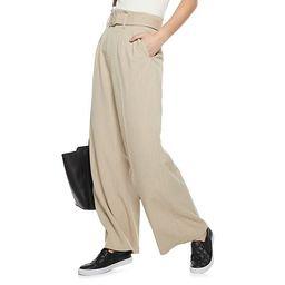Women's Nine West Paperbag-Waist Wide Leg Pants   Kohl's
