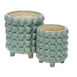 Dikomo 2-Piece Ceramic Pot Planter Set   Wayfair North America